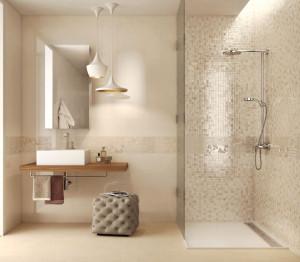 rifacimento bagno con ceramiche di pregio